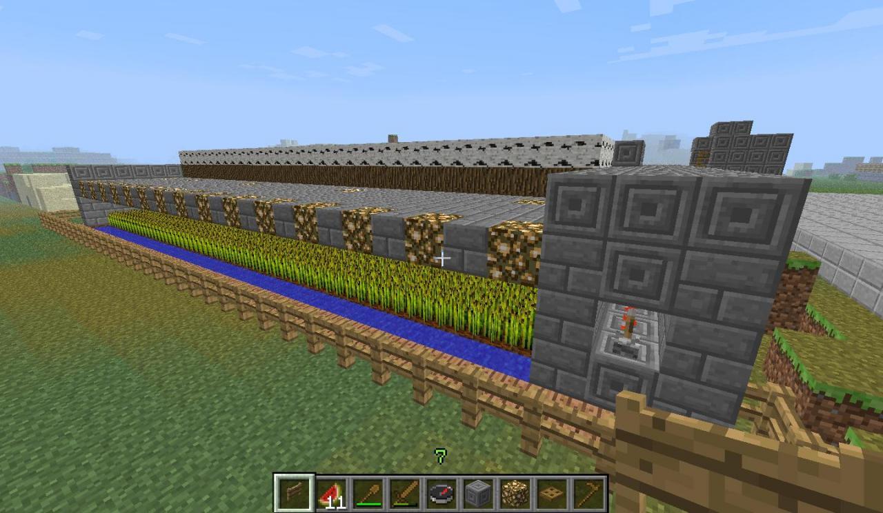 minecraft how to make a wheat farm