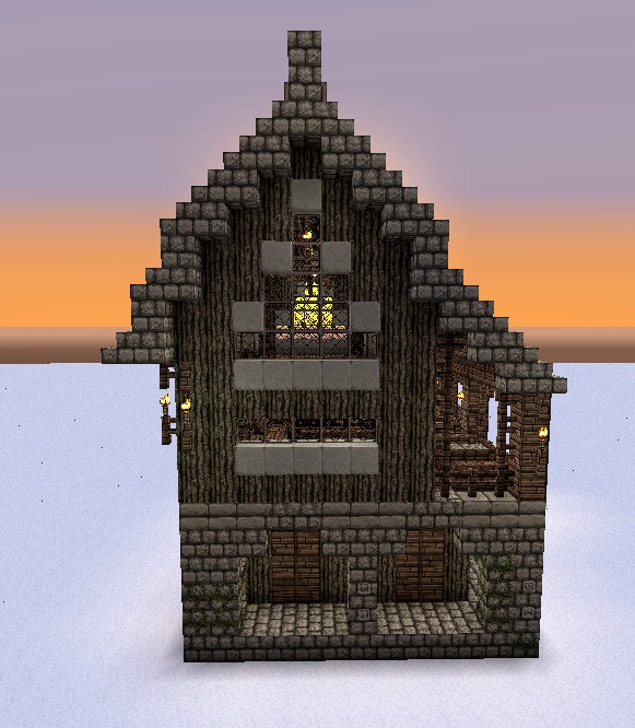 Guild Hall House Medieval Fantasy Minecraft Project