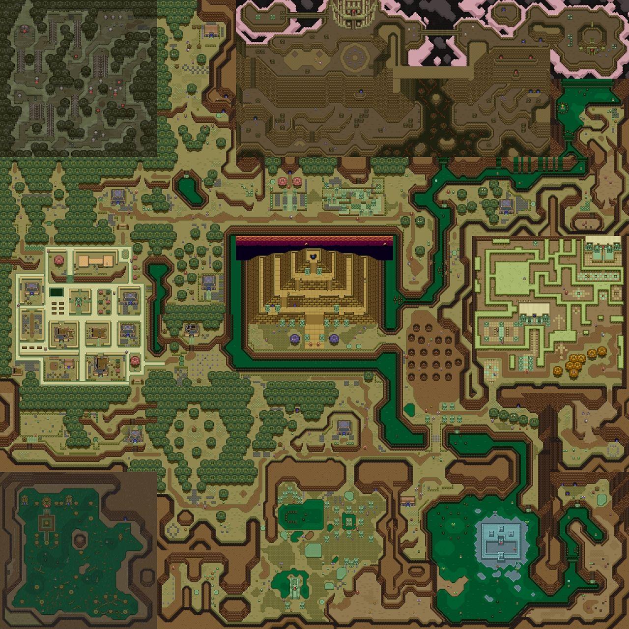 Zelda   Link to the Past ( SNES ) Dark World Minecraft Project