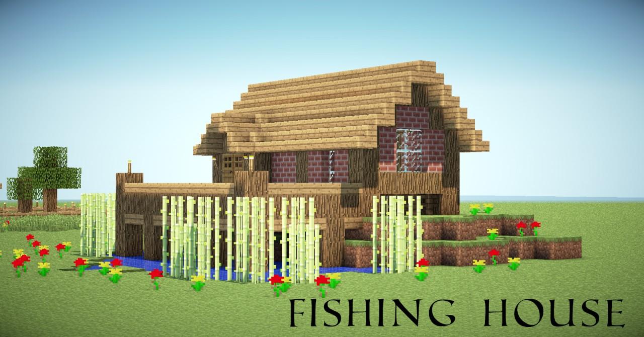 minecraft fishing house - 1280×670