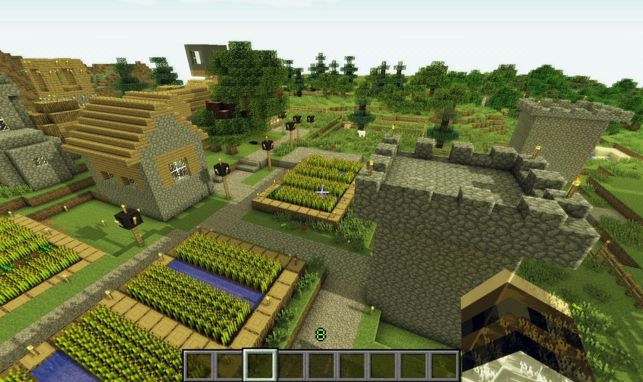 Npc village near spawn