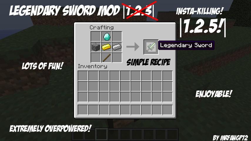 Legendary Sword Mod |1.2.5| Minecraft Mod