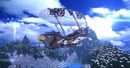 """The Flying Falcon"" Airship Minecraft Map & Project"