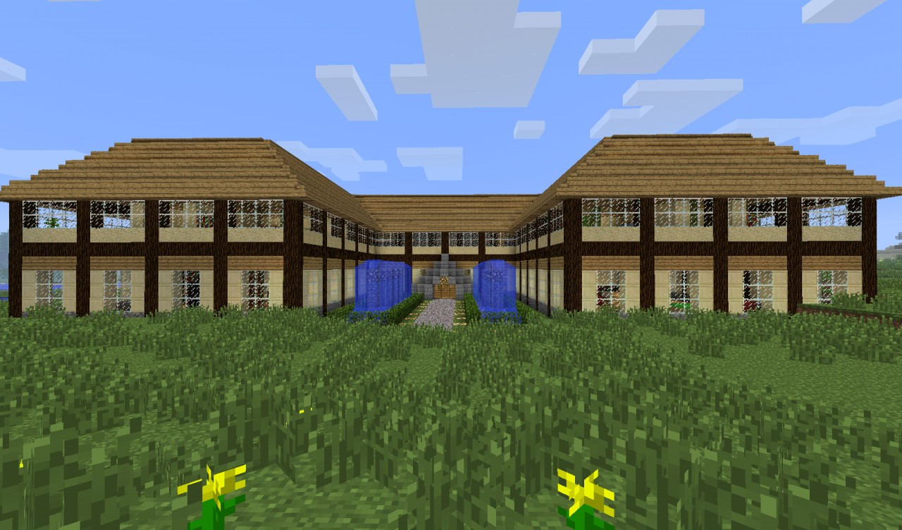 Big minecraft villa mansion minecraft project - Minecraft villa ...