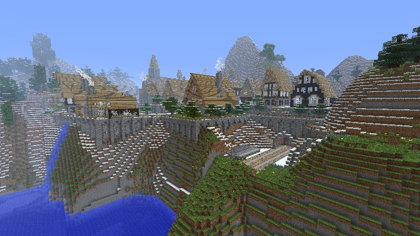 View of Village from Hogwarts