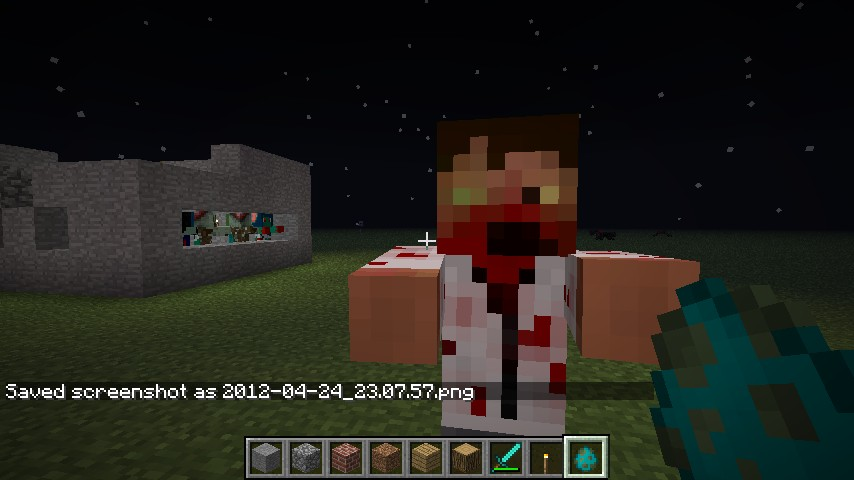 how to build a zombie in minecraft
