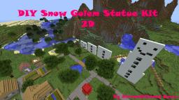 2D DIY Snow Golem Statue Kit Minecraft Map & Project