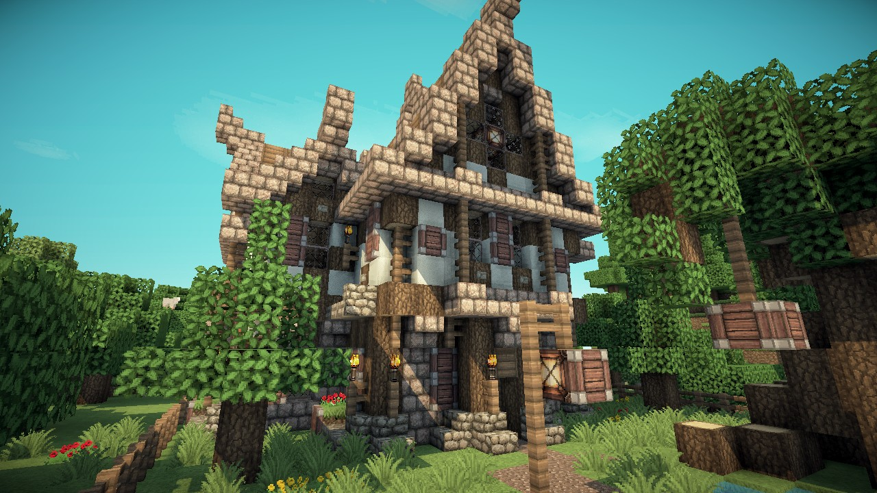 how to make a medieval house in minecraft