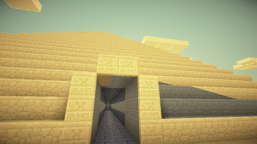 Entrance into one of the five pyramids