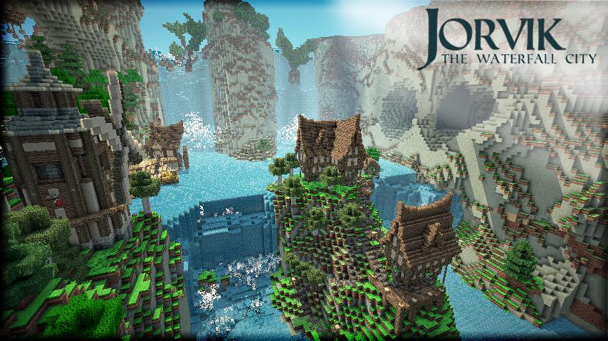 Скачать карту Величественный водопад для Майнкрафт 1.7.9