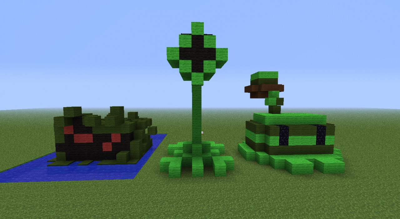 Plants Vs Zombies Plant Statues Minecraft Project