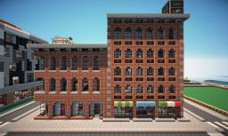 New York Brick Buildings on World of Keralis Minecraft Map & Project