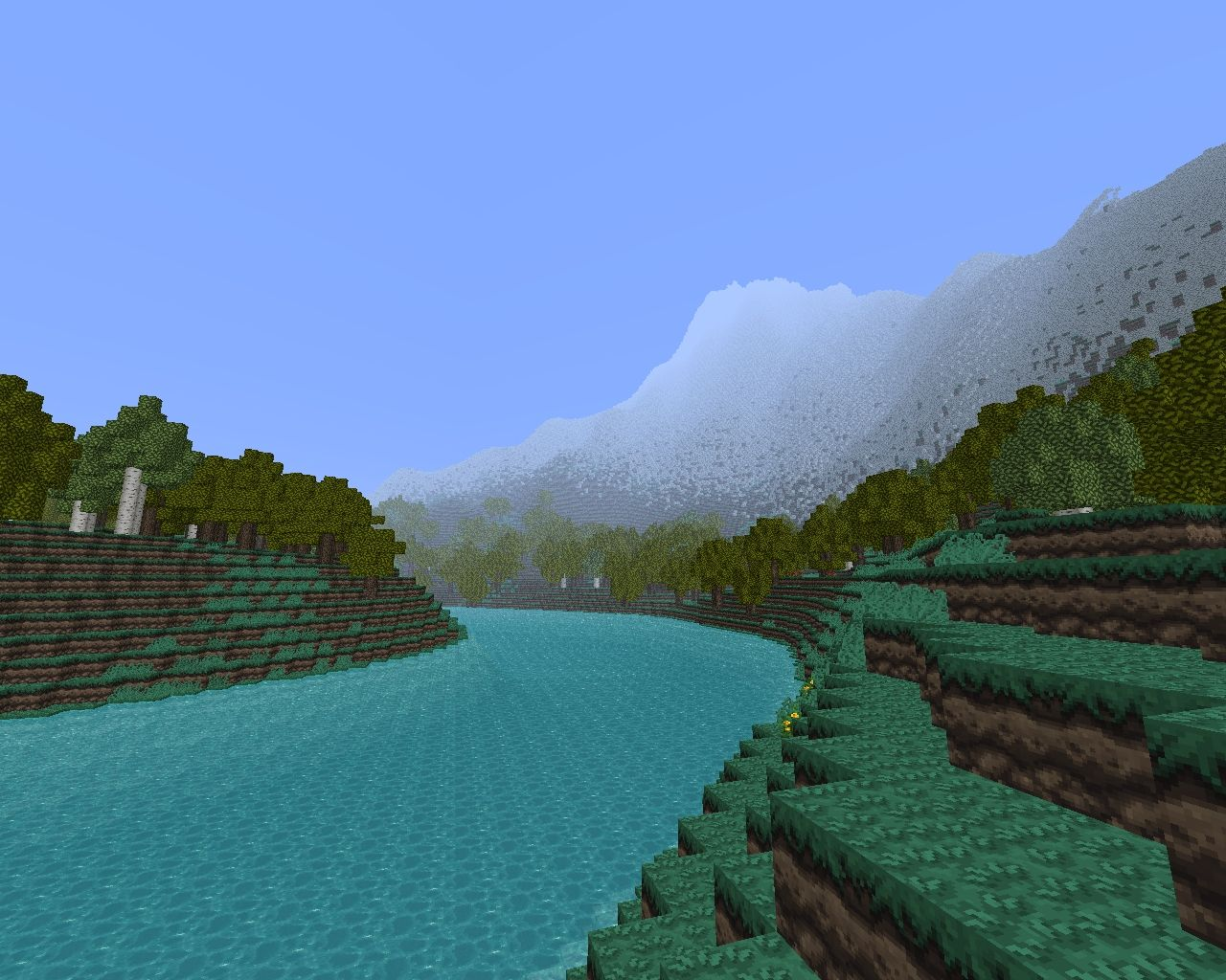 Custom Terrain: Long River Minecraft Project