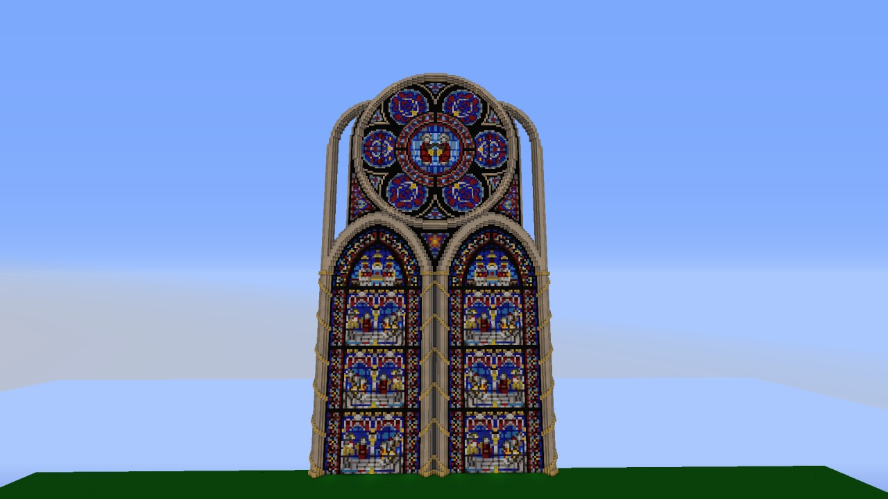 Fantasy stained glass cathedral wip minecraft project for Window design minecraft