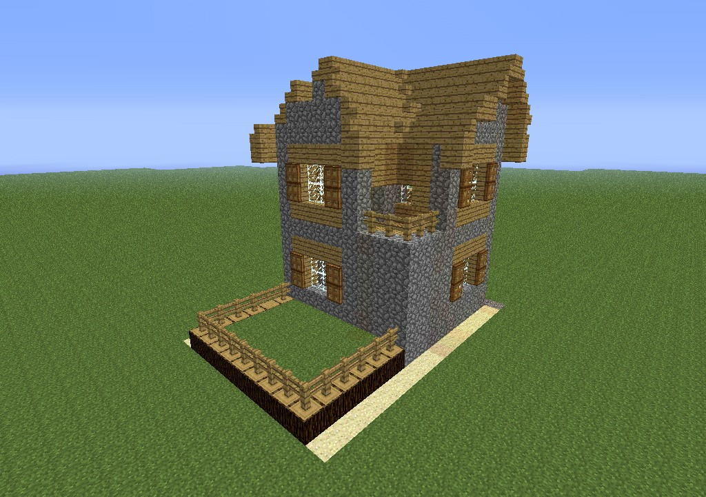 Advanced two story villager house minecraft project for House look from outside