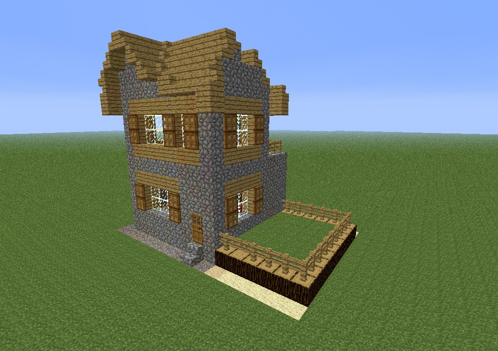 Village Style House Villager House Minecraft