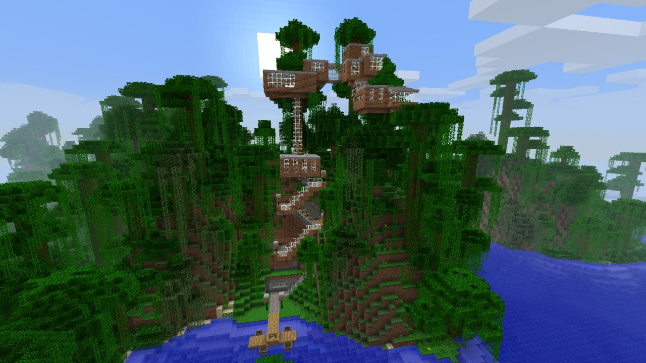 Baumhaus Treehouse Minecraft Project