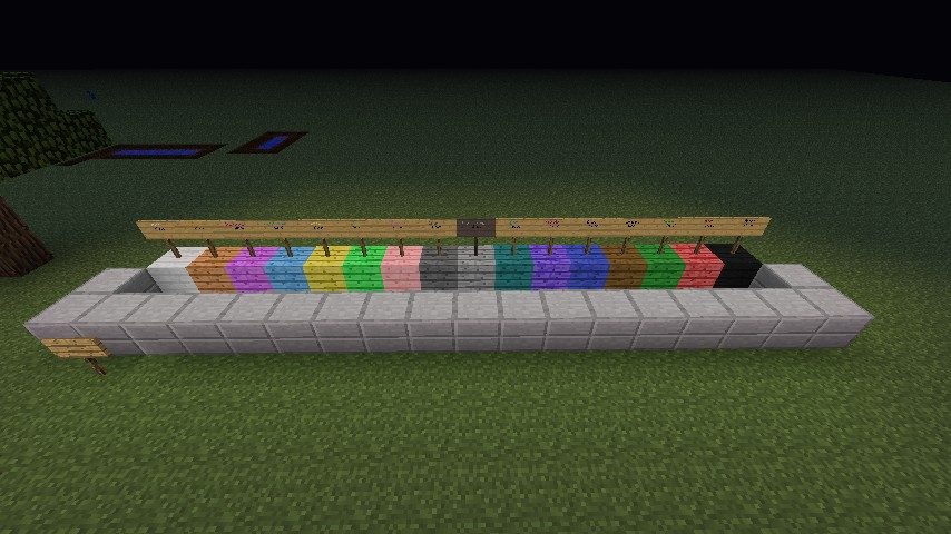 Colored Wood Minecraft