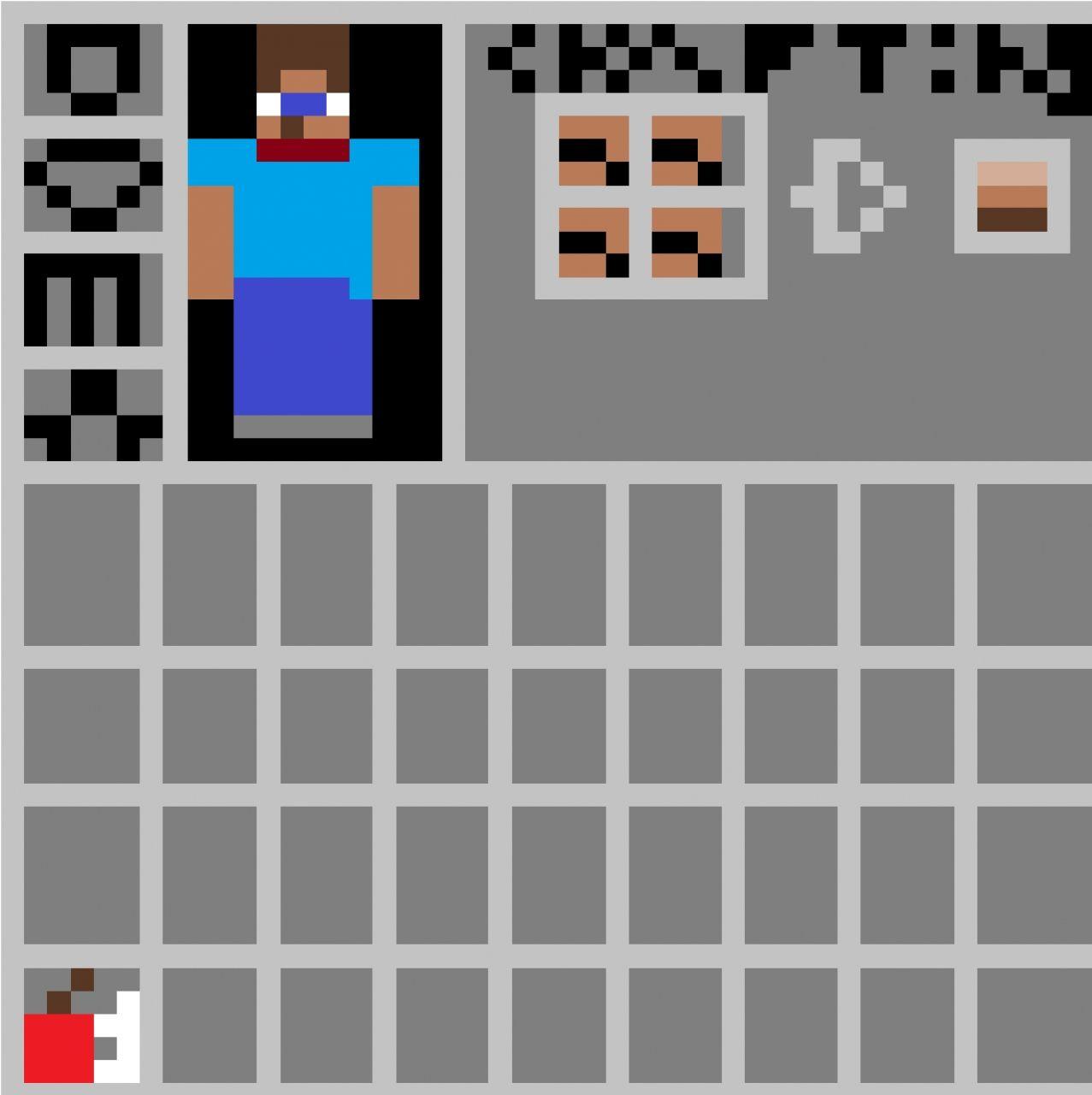 Minecraft Inventory Paint Program Drawing Minecraft Blog