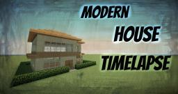 Modern House Timelapse Minecraft Map & Project