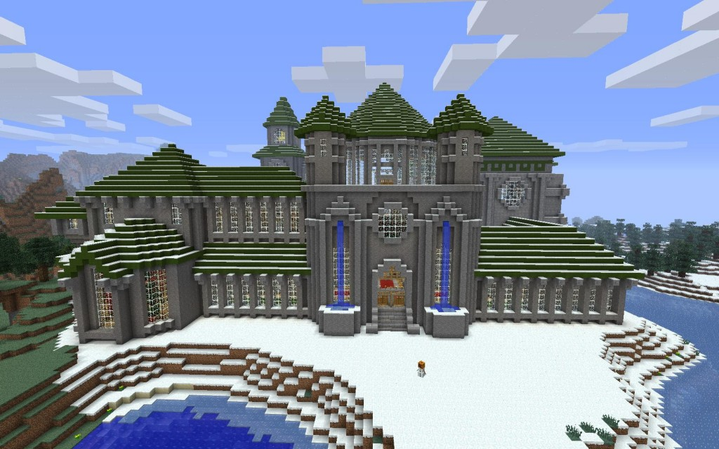 Winter Castle With A Message To My Viewers Minecraft Map