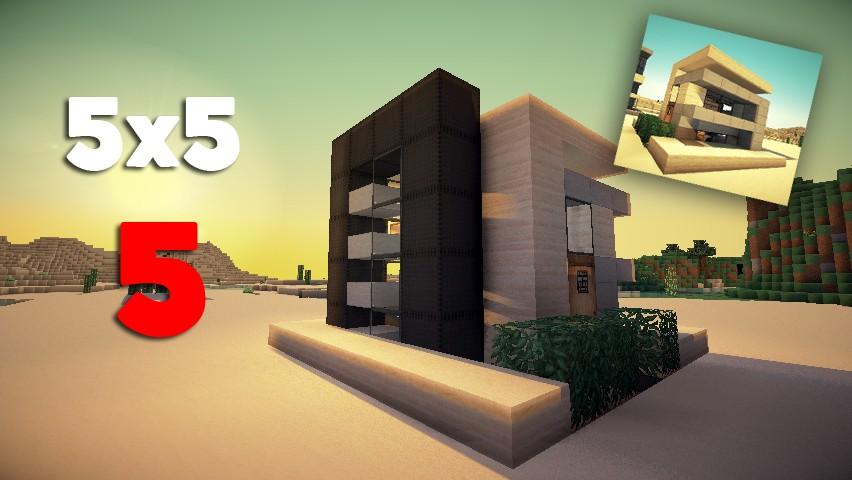 Modern Architecture Minecraft Collection - Minecraft modern house 5x5