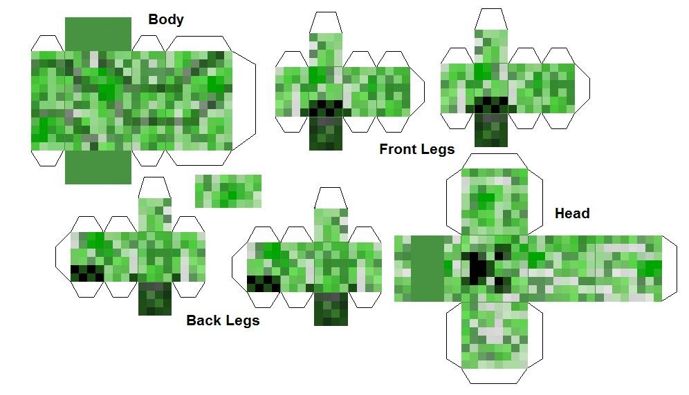 Creeper Papercraft Minecraft Blog