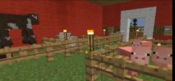 red barn inside