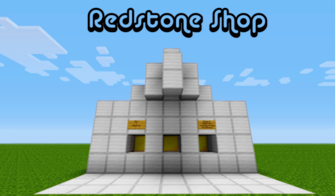 1 2 5 redstone shop minecraft project for Craft com online shopping