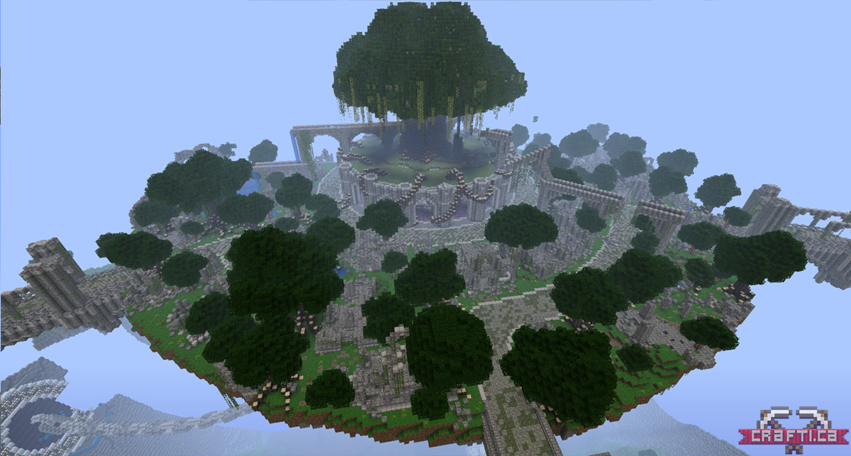 The ruined city has taken shape on the main island.