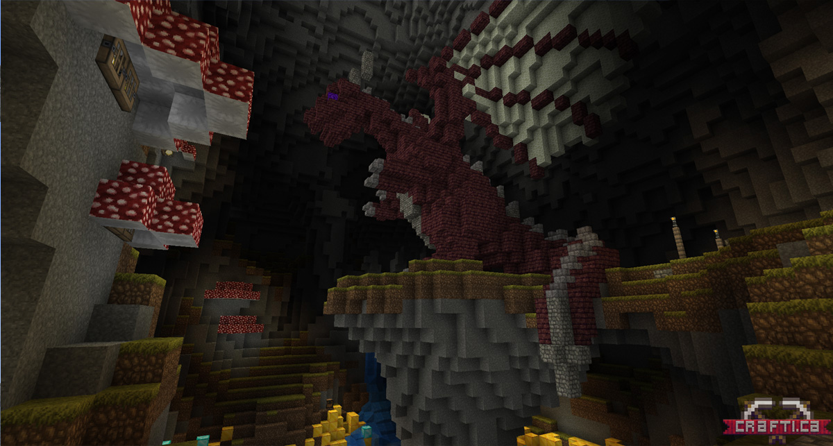 ... that houses a dragon inside. Players will be able to mount and fly dragons out of here.