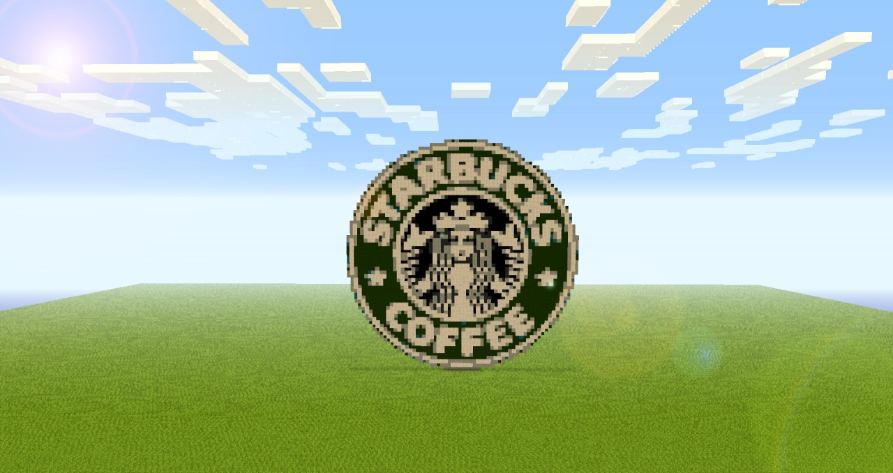 how to make a starbucks logo in minecraft
