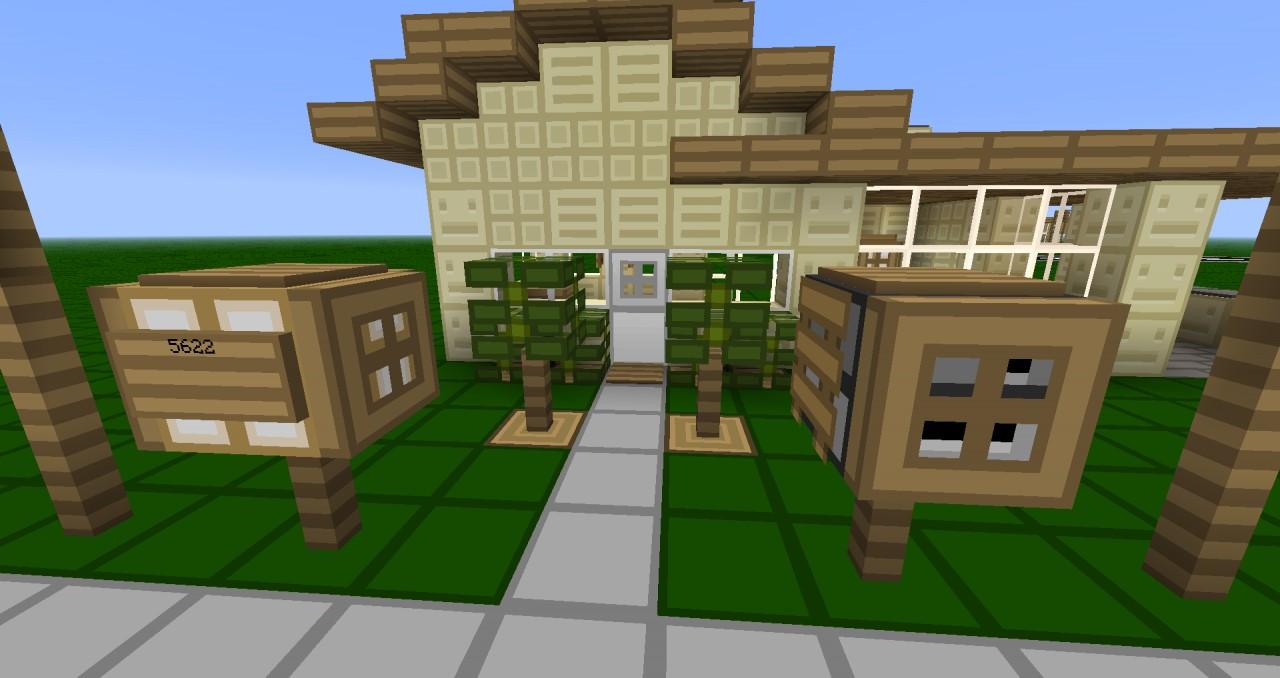 Minecraft garten modern asian house nr furniture mod for Bauen modern medesta