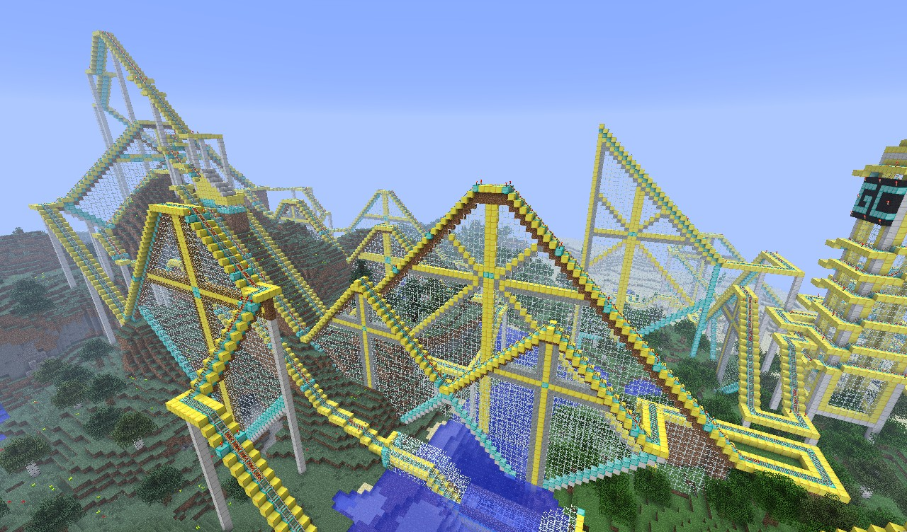 How To Build A Roller Coaster In Minecraft Creative Mode