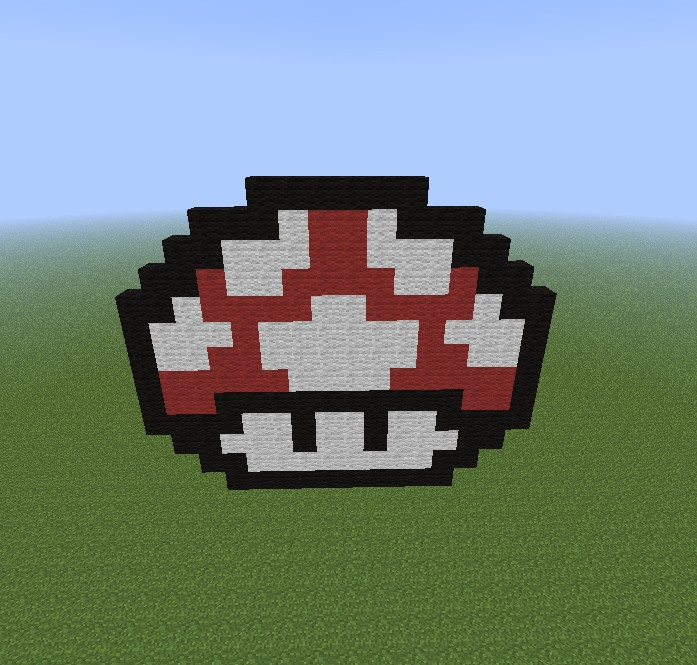 Pixel Art (Famous Video Games) Minecraft Project
