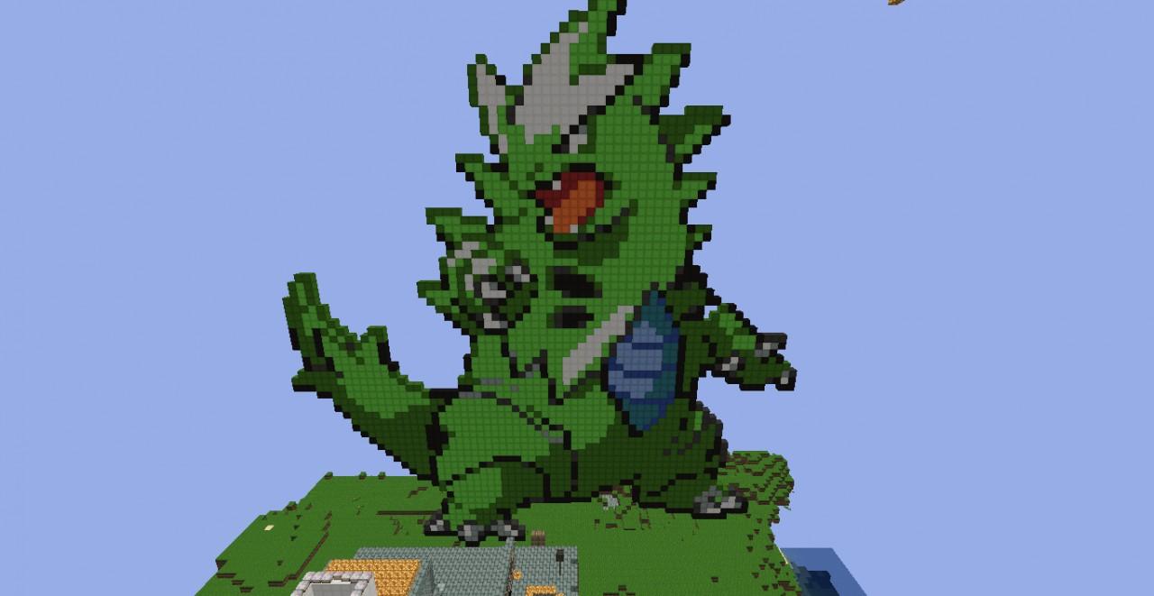 Pokemon: Tyranitar - Pixel Art Minecraft Project