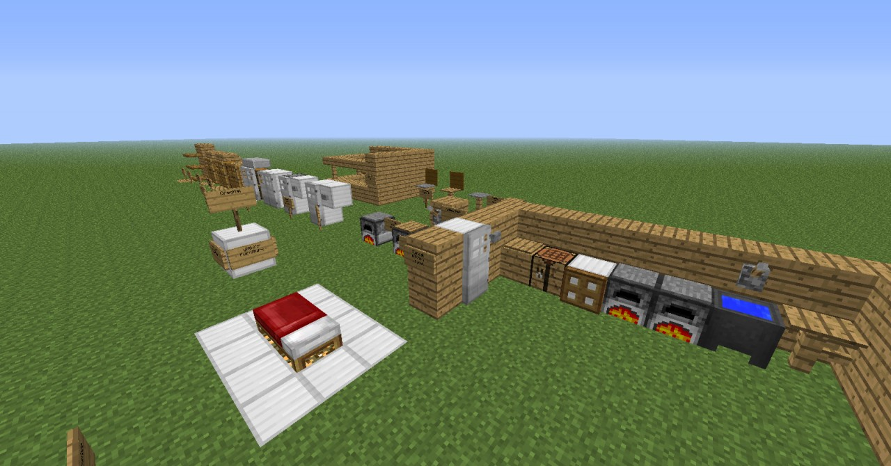 Minecraft furniture ideas xbox for Minecraft kitchen ideas xbox