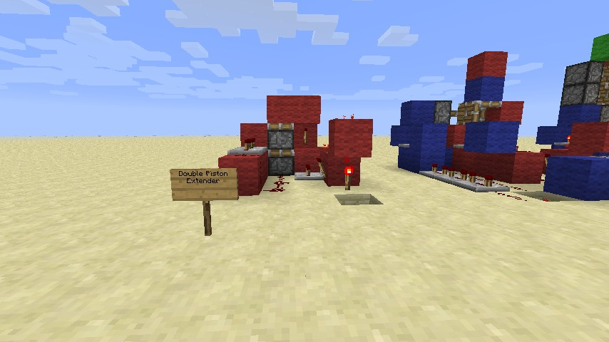 3x3 piston door minecraft project for Porte 3x3 minecraft