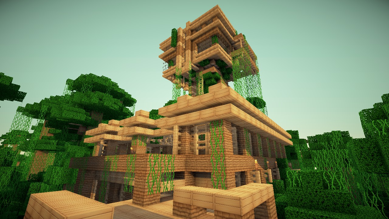 Gallery For > Minecraft Jungle Treehouse Design