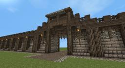 Detailed Medieval Wall + Entrance! Now with Added guard tower! Minecraft Map & Project
