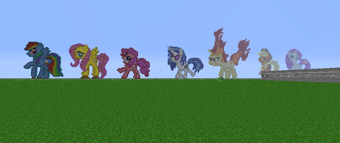 My little pony pixel arts minecraft project my little pony pixel arts 10 diamonds playlistadd the mane 6 sciox Choice Image