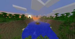 50 Subs Custom Terrain~Jungle Island Minecraft Map & Project