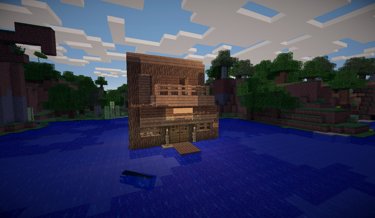 Herobrines House 1 2 5 Minecraft Map