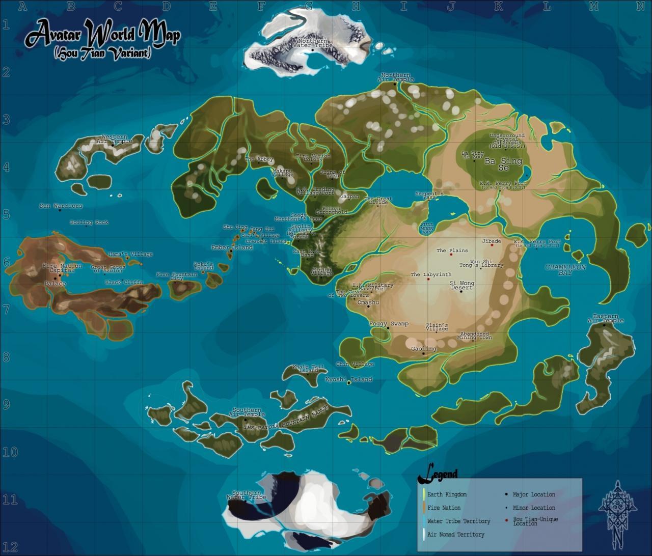 Avatar World Map I am planning on building