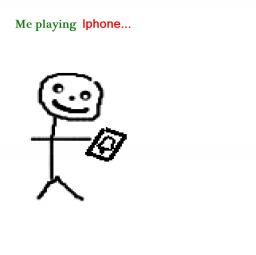 Me playing Iphone Minecraft Blog