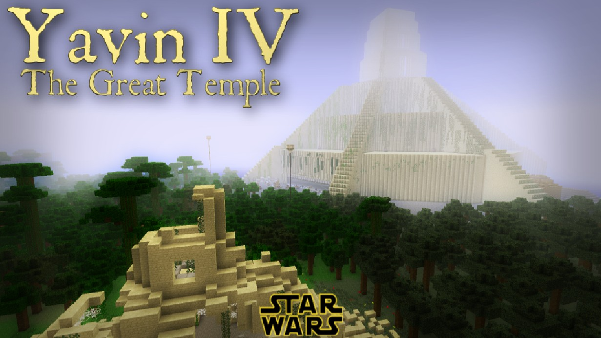 Star Wars Yavin Iv The Great Temple Minecraft Project