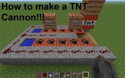 How to Make A TNT Cannon!!! Minecraft