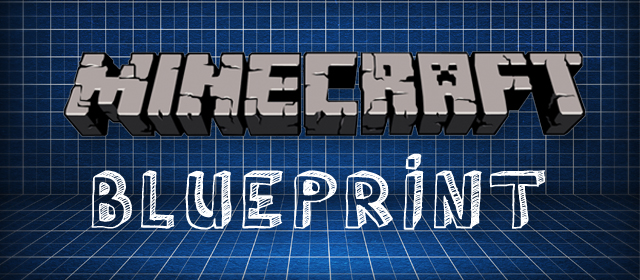 Minecraft Blueprint Splash Screen