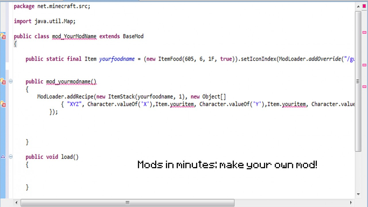 minecraft java edition code