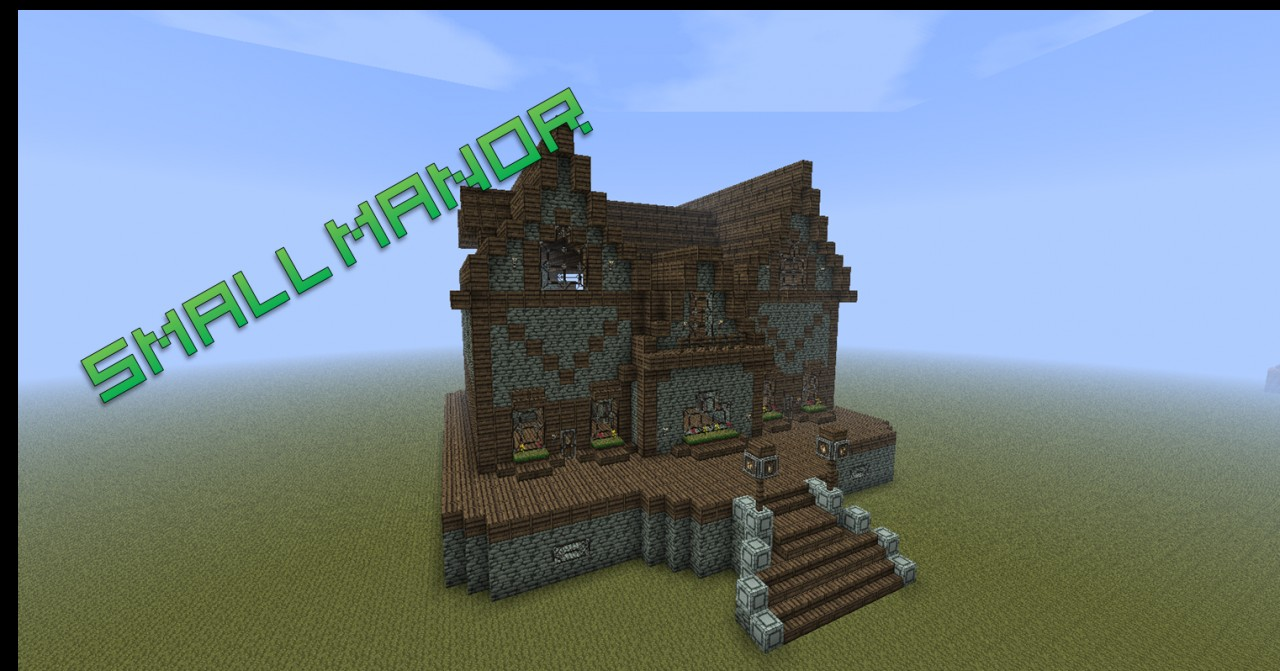 Small Manor [SCHEMATIC] - PixelRush Minecraft Map